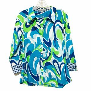 Foxcroft Wrinkle Free Abstract Shirt